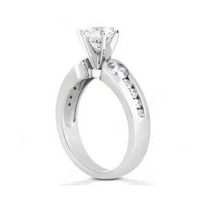 1.75 Ct. Diamonds three stone ring engagement gold